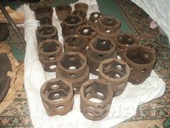 Головки(калёные) 40мм-140мм торцевые шестигранные