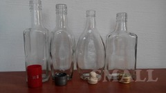 Стеклобутылка обработанная ультразвуком