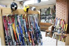 Комплект горные лыжи с ботинками